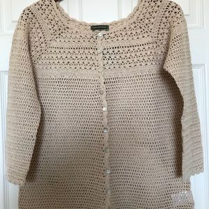 Crocheted cardigan NWOT